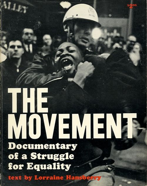 The Movement, book cover, 1964Cover photograph: Danny Lyon  This and many other civil rights-era graphic items are on display at the University of Maryland, Baltimore County as part of the For All the World to See: Visual Culture and the Struggle for Civil Rights show. #black #history #culture