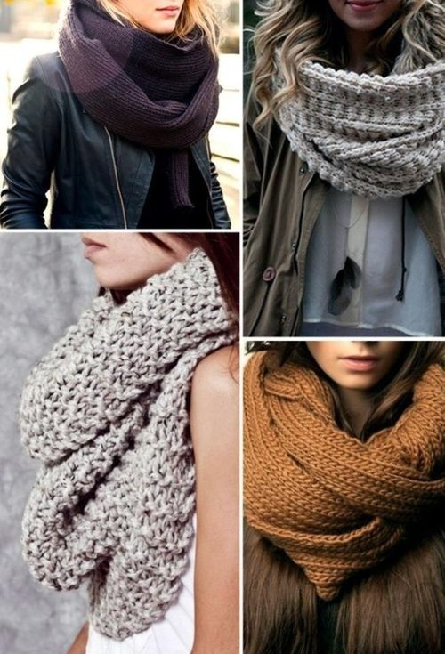 I want big, thick scarves for winter! BTW it better snow hard ...