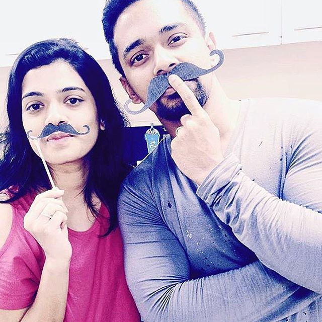 @yashvirkud and @aishwaryakhanvilkar rocking the #mullenlowelintasgroup moustache aka #lintache  #MoForMullenLowe