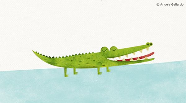 Crocodile Illustration to Nicksnack's Company on Behance