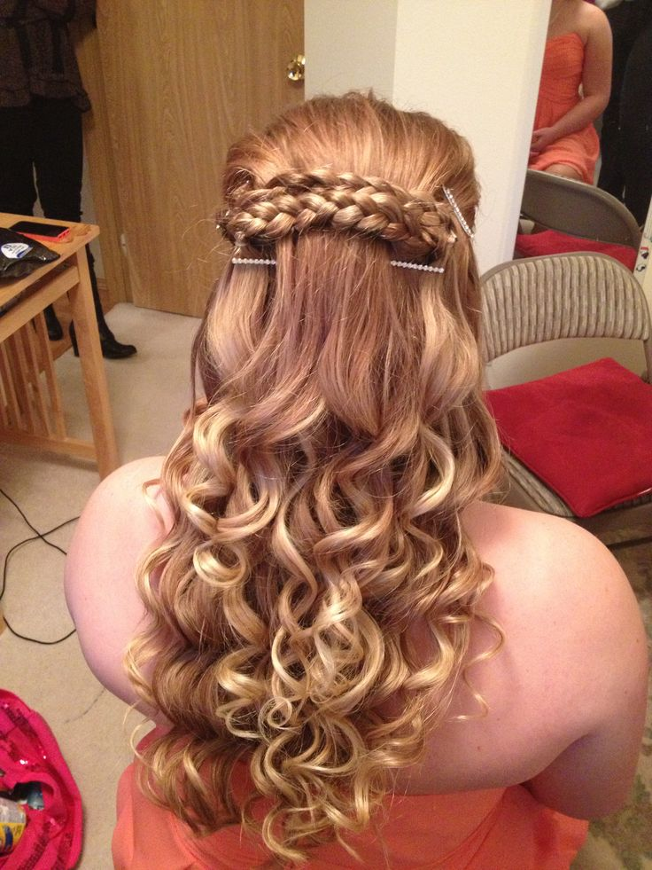 Hair!! Perfect for wedding, school dances, etc.