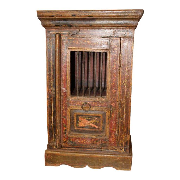 Best 1920 S Antique Boho Chic Brown Nightstand For Sale Brown 400 x 300