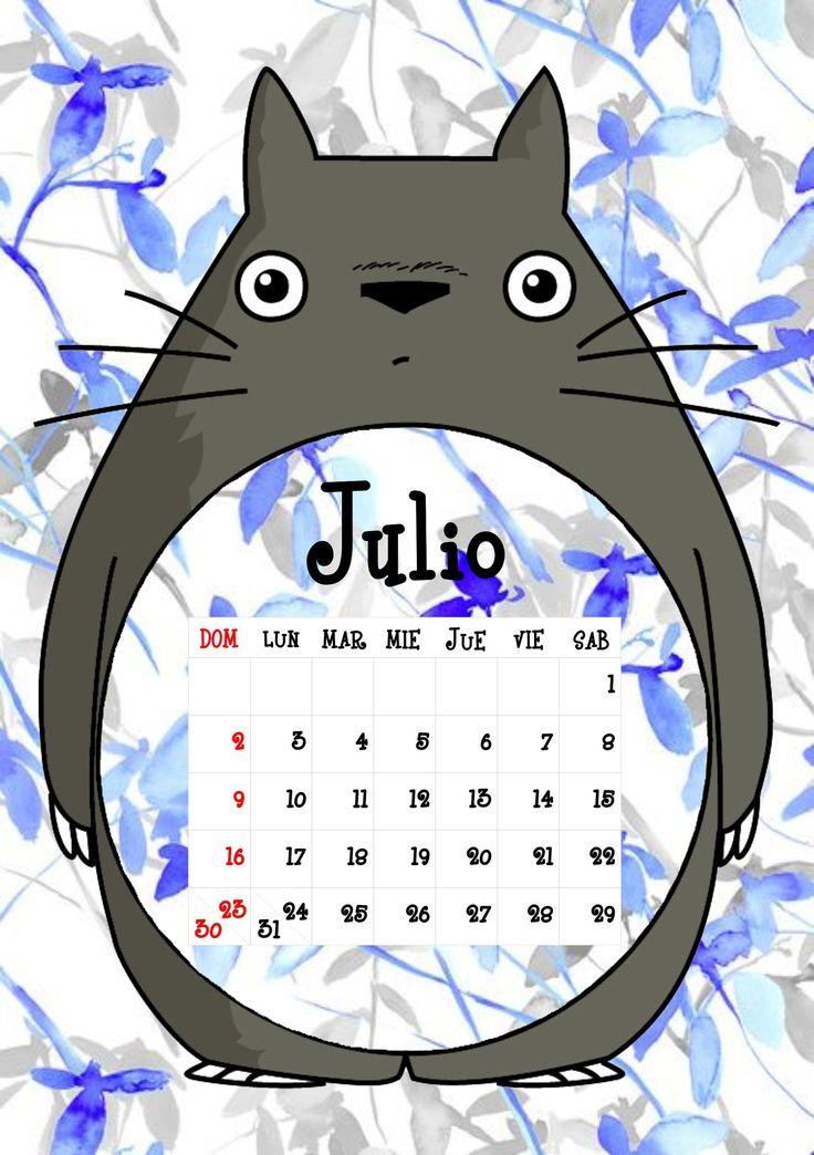 Calendario Totoro 2017 ♦ Julio ♦