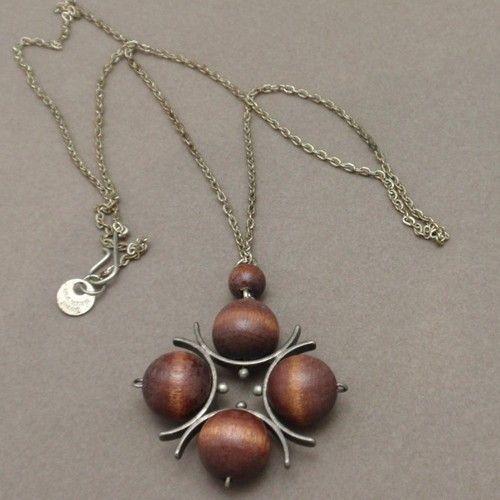 Wooden Modernist Ball Necklace Vintage Finland Signed Kaija Aarikka | eBay