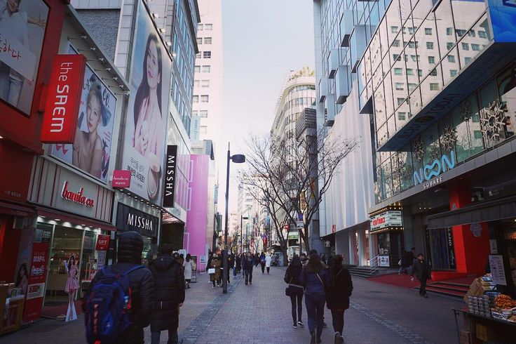 Shopping in Myeong-dong is a must if visiting Seoul; you'll find department stores, shopping malls and tons of boutiques that carry luxury brands as well as inexpensive items!⠀
