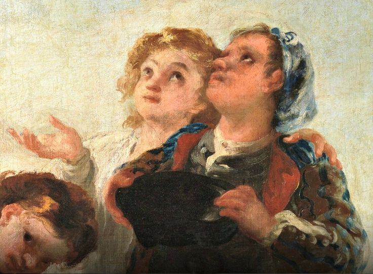 Muchachos cogiendo fruta (Boys picking Fruit)1778.Goya detail.