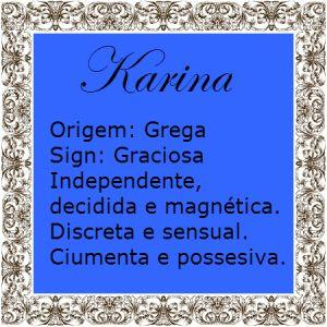 Significado do nome Karina | Significado dos Nomes
