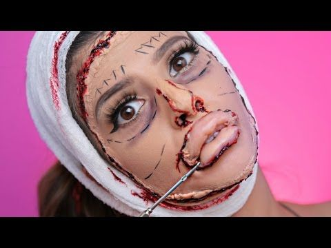 This DIY Bad Plastic Surgery Halloween Makeup Tutorial Makes For A Pretty Horrific Costume - One Country