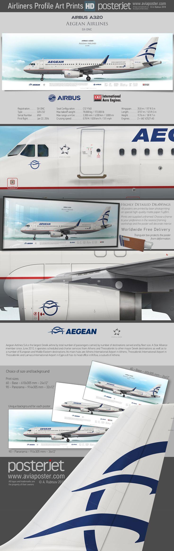 Airbus A320 Aegean Airlines SX-DNC   www.aviaposter.com   #aviation #jetliner #airplane #pilot #aviationlovers #avgeek #jet #airport #pilotlife #cabincrew