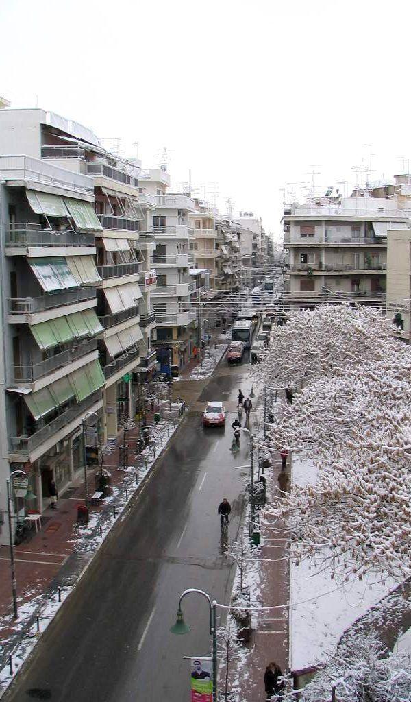 Larisa in snow.. Greece