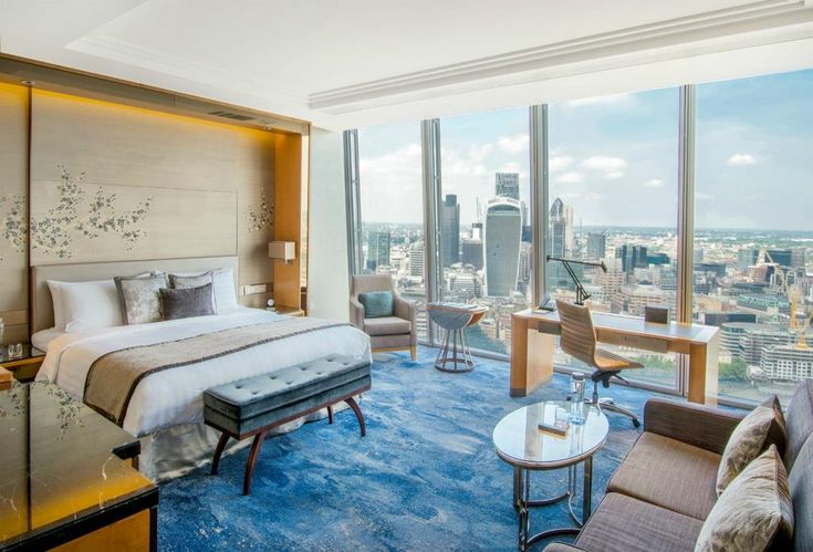 """On floors 34-52, the Shangri-La Hotel at The Shard, London has 5-star luxury and breathtaking views of the capital and beyond. It features an exquisite restaurant and serves cocktails until late at the highest bar in London.  Each uniquely designed guest room has floor-to-ceiling windows providing spectacular views of the city, and maintains the theme of Oriental elegance found throughout the hotel. Featuring the body-contouring-technology """"Shangri-La Bed,"""" rooms include a TV, iPod dock…"""