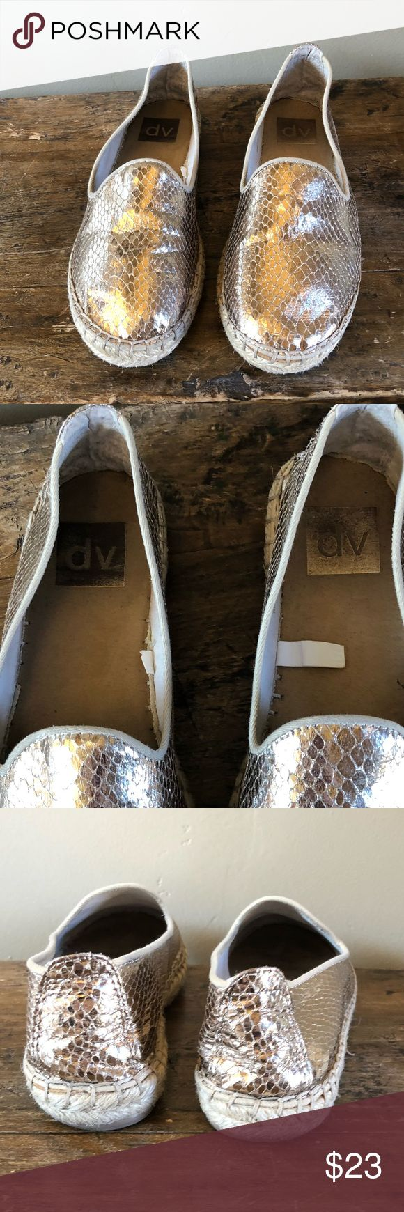 DV by Dolce Vita Gold Metallic Espadrilles Size 6 Good condition.  Really cute and comfy! DV by Dolce Vita Shoes Espadrilles