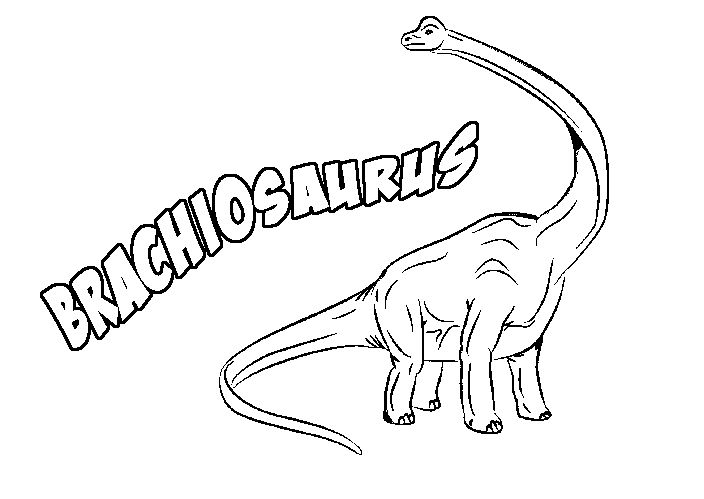 Print Coloring Page And Book Brachiosaurus For Kids Of