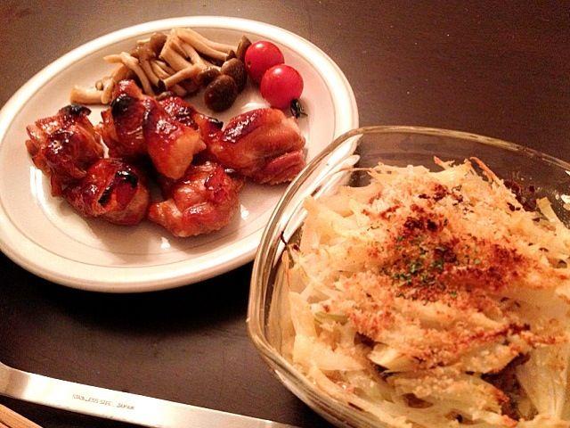 おつまみ(゚з゚) - 4件のもぐもぐ - ローストチキン  ポテトとアンチョビの豆乳グラタン by m1re1