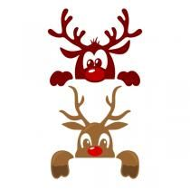 Cute Christmas Reindeer SVG Cuttable Designs FREE one added daily