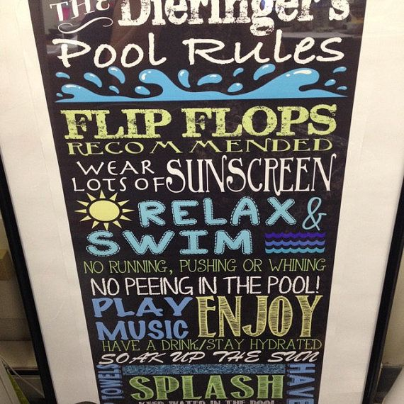 Great Gifts For Wife Part - 21: Custom Outdoor Digital Chalkboard Pool Sign. Personalize This Sign To Put  Out For Summer,