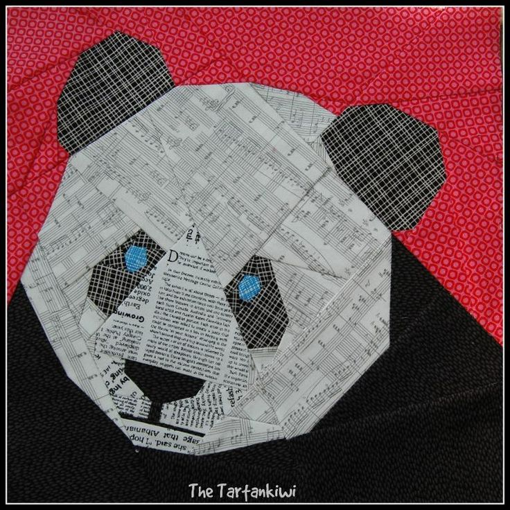 Looking for your next project? You're going to love Panda- A Paper Pieced Pattern by designer The Tartankiwi.
