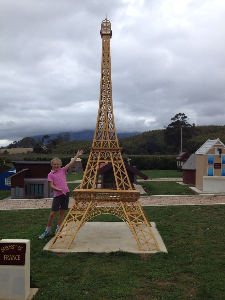 Australia's version of the Eiffel Tower...Tasmazia in Tasmania.