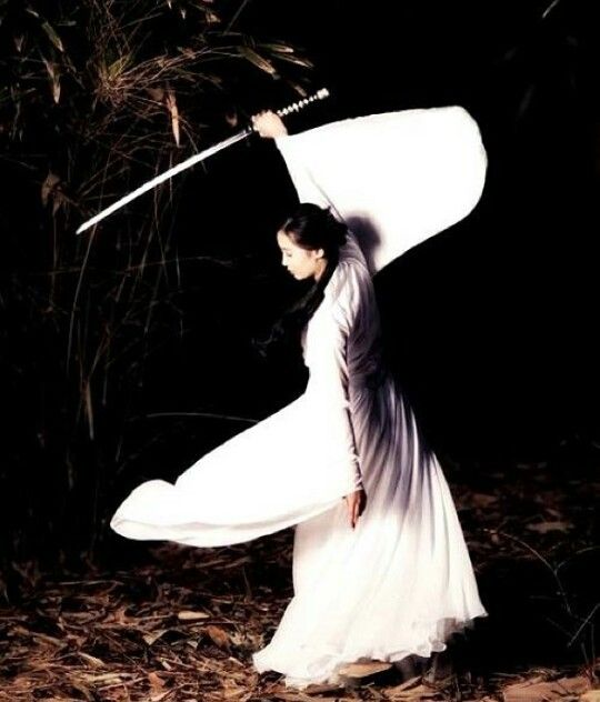 Samurai women are powerful. They are great with a katana.