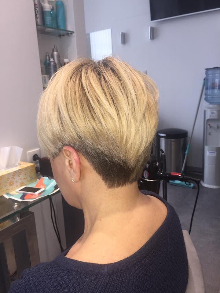 Wykonanie: Monika www.fryzjer.lublin.pl #hair #blonde #short #dyed #cut #fryzjer #Lublin