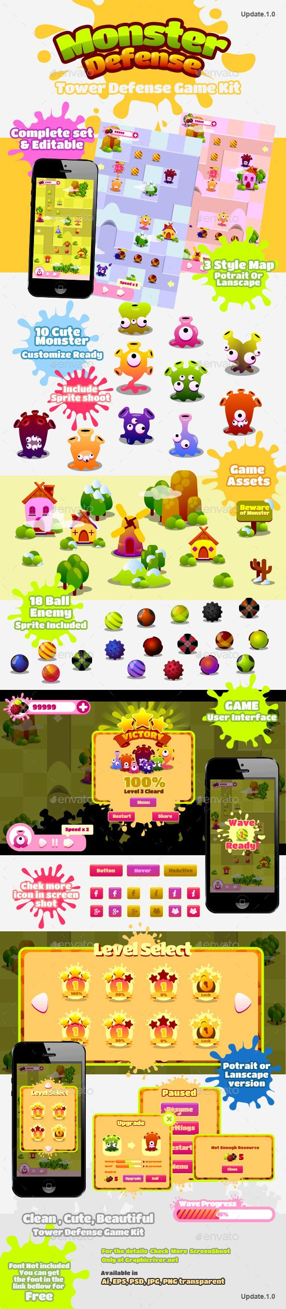 Tower Defense Kit - Game #Kits #Game #Assets | Download http://graphicriver.net/item/tower-defense-kit/8932584?ref=sinzo