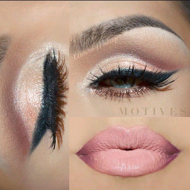 """Beautiful makeup @auroramakeup she used Motivescosmetics  products : -Eye Shadow Base . -Eye shadow in BIRCH (Mavens Element palette), highlighting brow…"""
