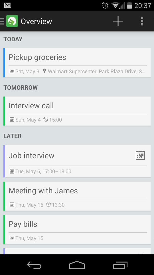 /du:/ is a clean, sleek and simple task and ToDo list management app with support for location based reminders and integration with your favorite Calendar app.