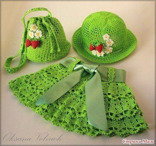 Delicadezas en crochet Gabriela: Vestidos de niñas para distintas edades