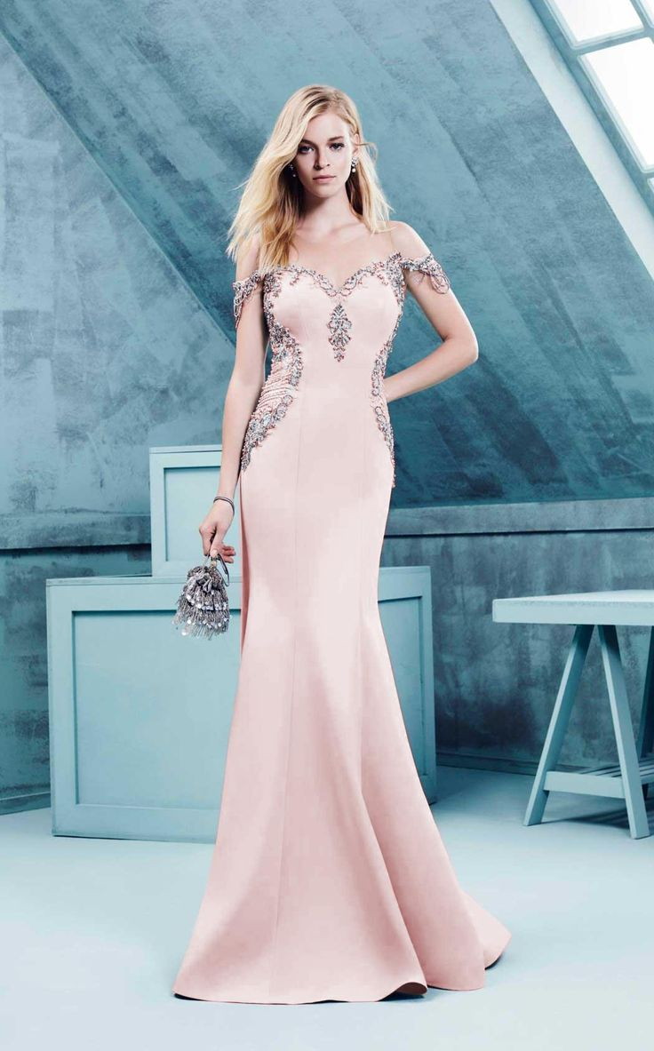 Omur Ozer 57209 | Maxi gowns, Curvy fit and Hemline