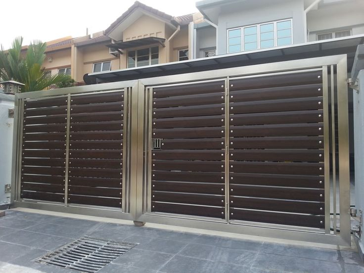 Our stainless steel gate is manufactured and welded by our skilled worker unlike wrought iron for Wooden main gate design for home