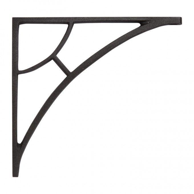 Simple Arch Cast Iron Shelf Bracket