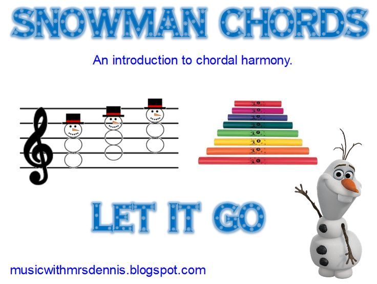 """Music with Mrs. Dennis: Snowman Chords and """"Let It Go"""""""