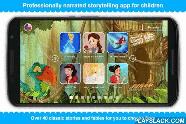 """Tales With GiGi  Android App - playslack.com ,  Tales with Gigi is a mobile storytelling app with over 30 professionally narrated fairy tales giving you 100% as-in-book experience. All of the tales are specially designed to challenge children to think creatively, use their imagination and motivate them to find and appreciate the moral of the story.Features:- Over 200 000 downloads worldwide- Includes Cinderella, Beauty and the Beast, The Gingerbread Man and many more…- 100% """"as-in-book""""…"""