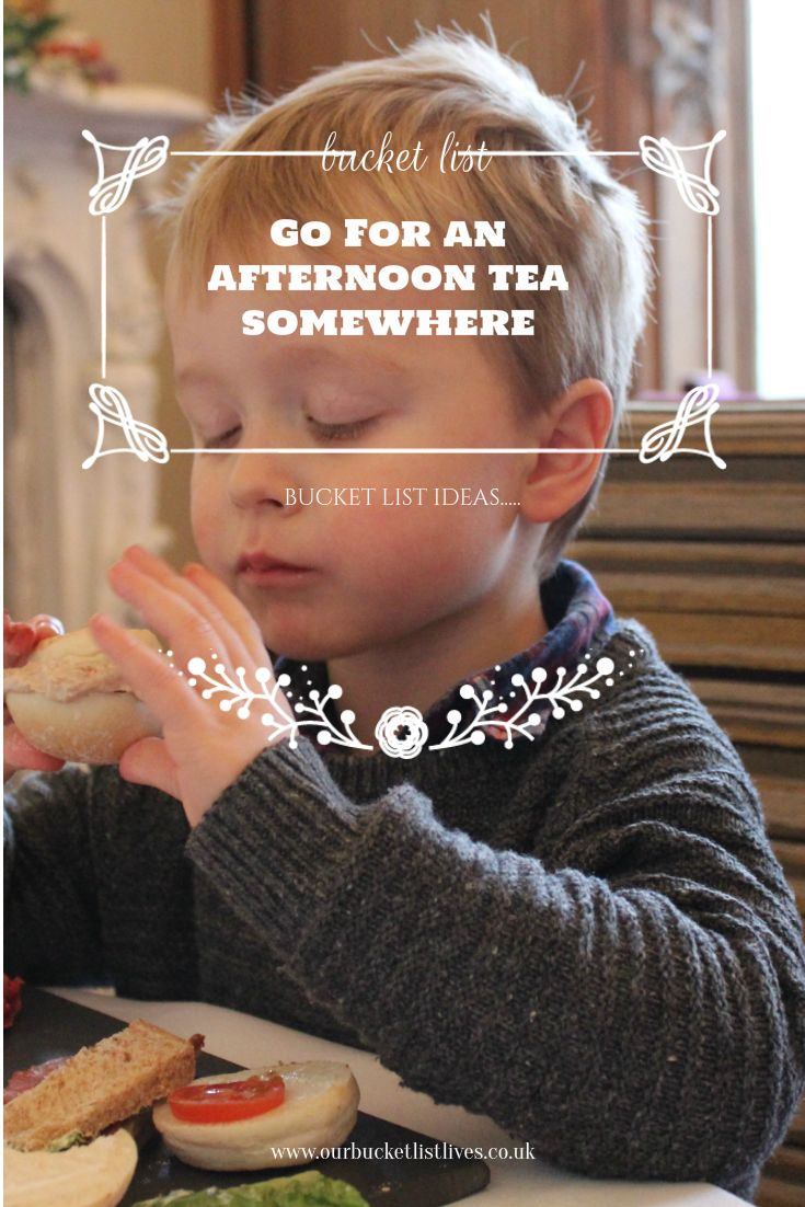 Afternoon tea with children - bucket list tick from www.ourbucketlistlives.co.uk - UK family day out idea Stoke Rochford hall, East Anglia
