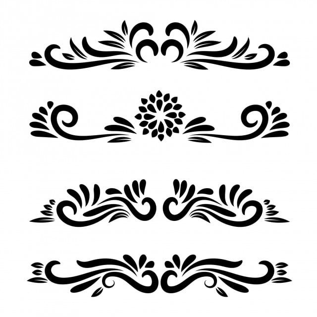Vector Element Floral Motifs Floral Ornamental Vector Line Art Flower Ornamental Vector Clipart Icons Converter Icons Fitness Png And Vector With Transpare Ornamental Vector Floral Wreath Watercolor Floral Background