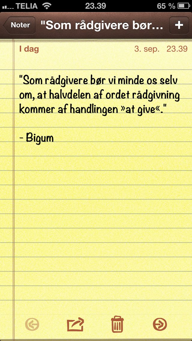 """""""Som rådgivere bør vi minde os selv om, at... """" (dagens citat af @Thomas Bigum)"""