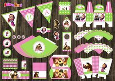 Masha and the Bear e orso Birthday Party Decor por RoomOfDesign