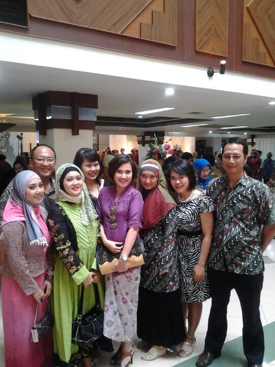 Wearing batik