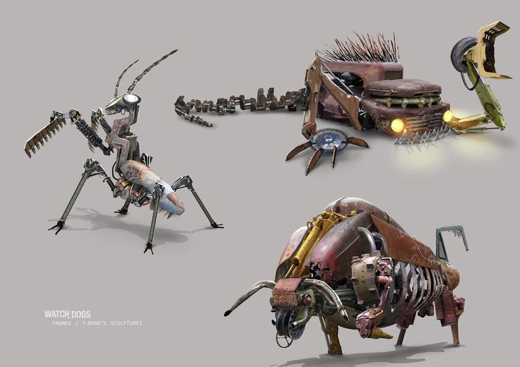 ArtStation - Watch Dogs - T-bone Junkyard concept art, Michel Donze