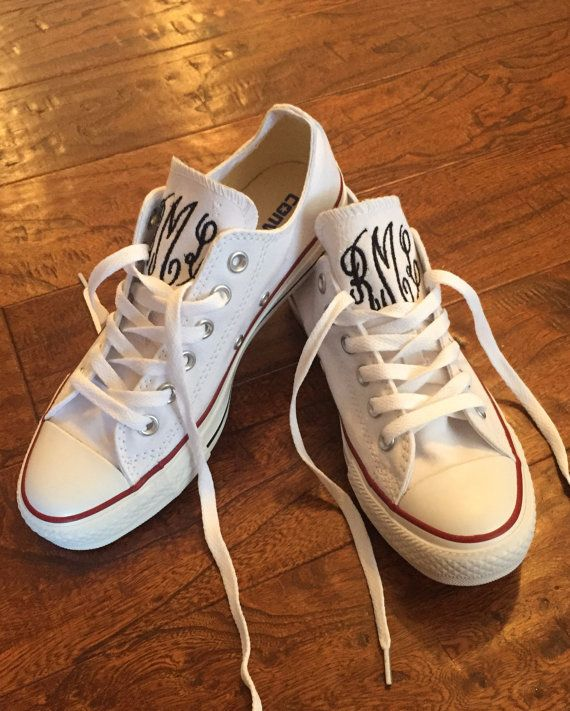 Monogrammed Converse Shoes by HoneyHushEmbroidery on Etsy