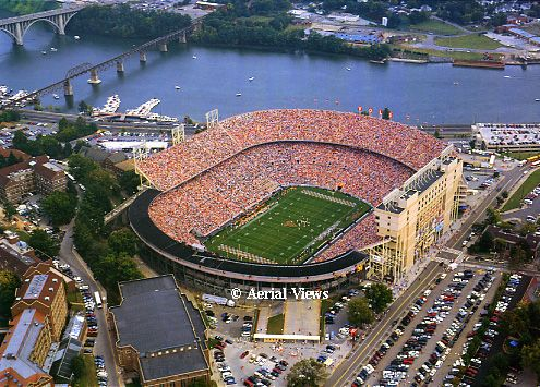 Neyland Stadium - Tennessee Vols, Rocky Top, can boat to the game, >100,000 capacity, #2 to the Big House.