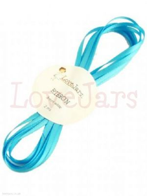 Mixed citrus cyan blue ribbon - 2 meters in length, 5mm wide satin ribbon to coordinate with the Mixed Citrus collection