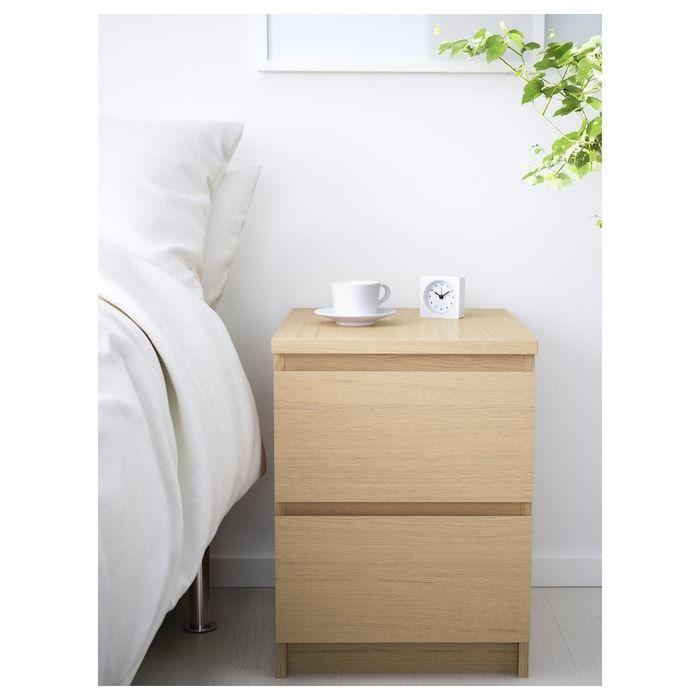 Malm Ladekast 2 Lades Wit Gelazuurd Eikenfineer 40x55 Cm Ikea 40x55 Eikenfineer Gelazuurd Ikea Lad In 2020 Malm Kommode Ikea Nachttisch Schlafzimmer Kommode