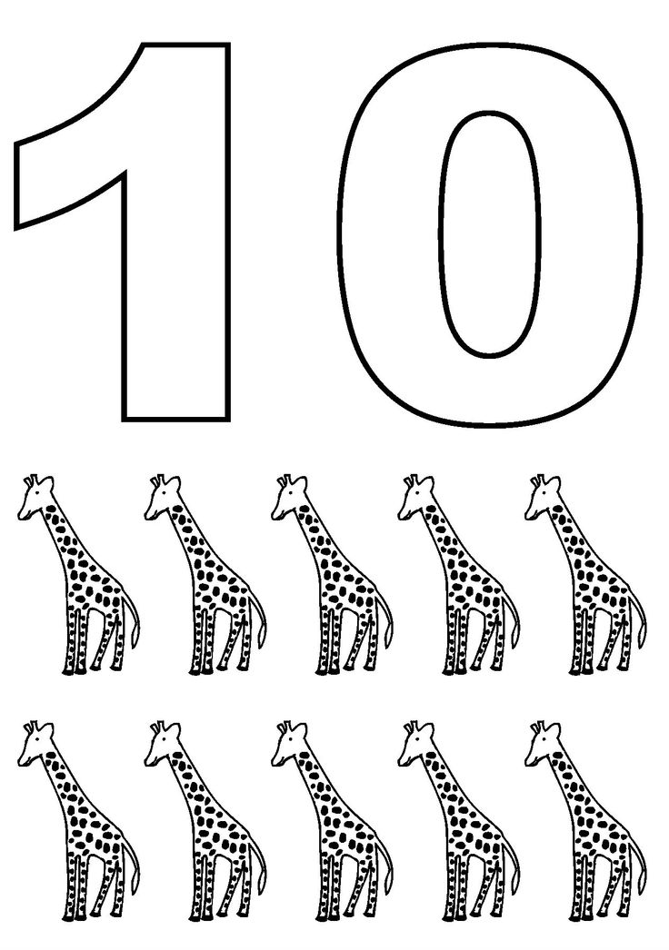 Ten Simple Numbers With Pictures Giraffe