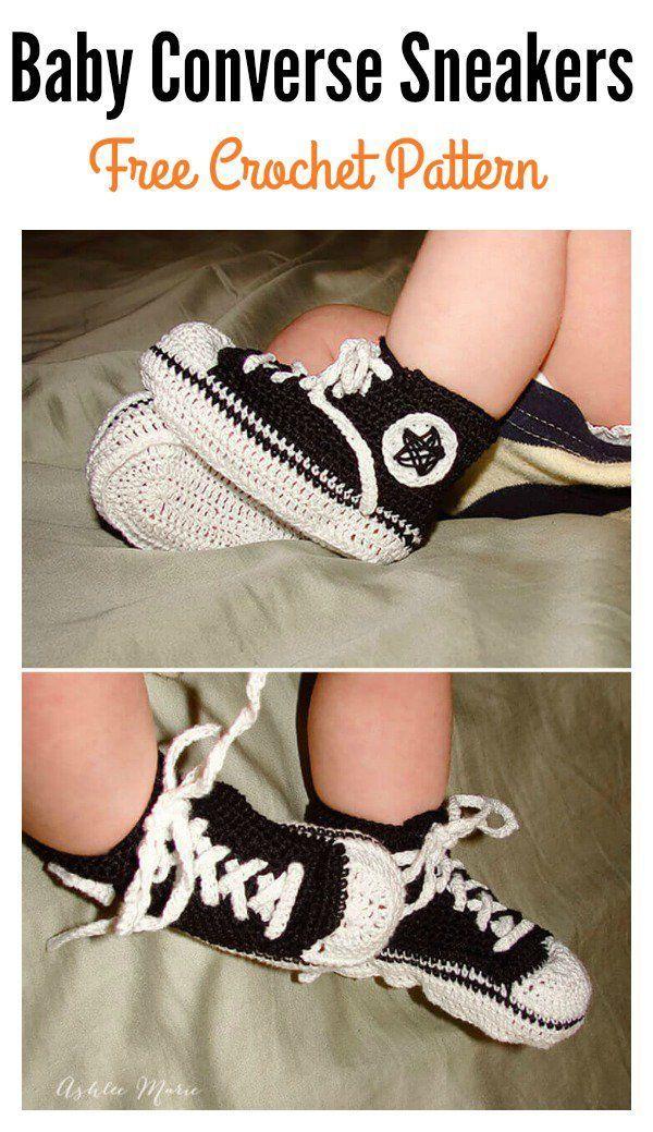 Crochet Baby Converse Sneakers Free Pattern Crotchet Pinterest