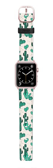 Casetify Apple Watch Band (42mm) Saffiano Leather Watch Band - Cactus by Andrea Lauren by Andrea Lauren