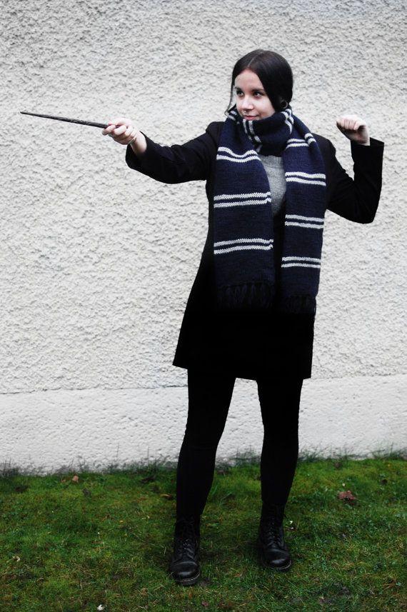 Harry Potter geïnspireerd Ravenklauw sjaal