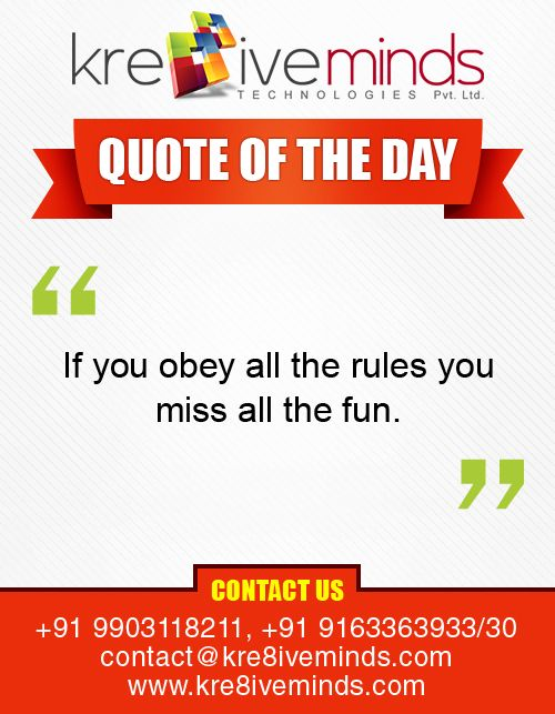 Quote of the Day !!
