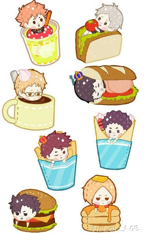 Haikyuu!! Chibi ^.^ As Food... I'm Hungry Now