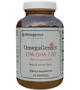 Metagenics OmegaGenics EPA-DHA 720 - high EPA fish oil softgels